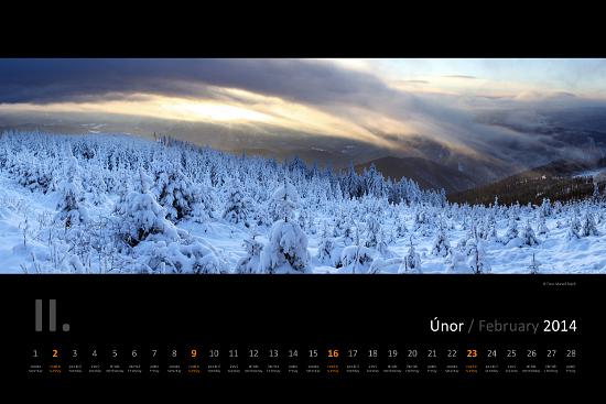 nastenny kalendar Nástěnný kalendář Beskydy 2014   Marcel Fujcik nastenny kalendar