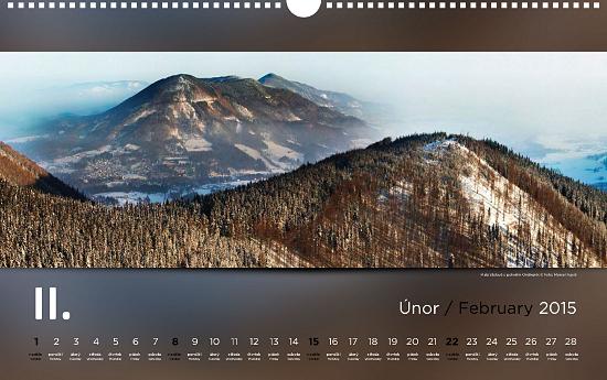 nastenny kalendar Nástěnný kalendář Beskydy 2015   Marcel Fujcik nastenny kalendar