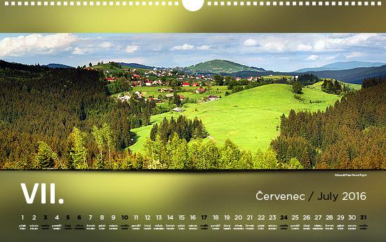 nastenny kalendar Nástěnný kalendář Beskydy 2016   Marcel Fujcik nastenny kalendar